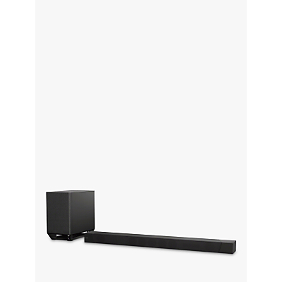 Image of Sony HT-ST5000 Wi-Fi Bluetooth NFC Sound Bar with Wireless Subwoofer, High Resolution Audio, Dolby Atmos, Chromecast & Multiroom