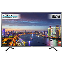 "Buy Hisense H45N5750 LED HDR 4K Ultra HD Smart TV, 45"" with Freeview Play, Silver Online at johnlewis.com"
