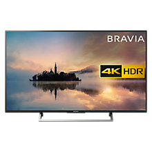 "Buy Sony Bravia KD55XE7003 LED HDR 4K Ultra HD Smart TV, 55"" with Freeview HD & Cable Management, Black Online at johnlewis.com"