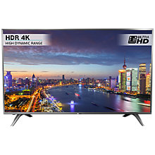 "Buy Hisense H55N5700 LED HDR 4K Ultra HD Smart TV, 55"" with Freeview HD, Dark Grey Online at johnlewis.com"