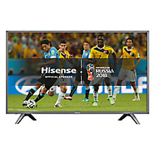 "Buy Hisense H43N5700 LED HDR 4K Ultra HD Smart TV, 43"" with Freeview Play, Dark Grey Online at johnlewis.com"