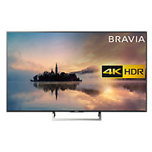"Buy Sony Bravia KD65XE7003 LED HDR 4K Ultra HD Smart TV, 65"" with Freeview HD & Cable Management, Black Online at johnlewis.com"
