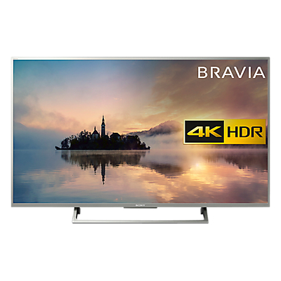 Sony Bravia KD43XE7073 LED HDR 4K Ultra HD Smart TV, 43 with Freeview HD & Cable Management, Silver