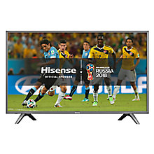 "Buy Hisense H49N5700 LED HDR 4K Ultra HD Smart TV, 49"" with Freeview HD, Dark Grey Online at johnlewis.com"