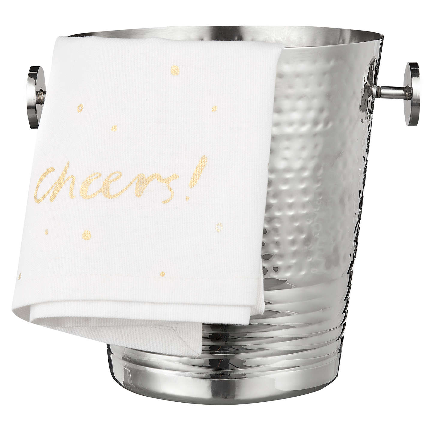 Buyjohn Lewis Hammered Stainless Steel Champagne Bucket And Towel Online