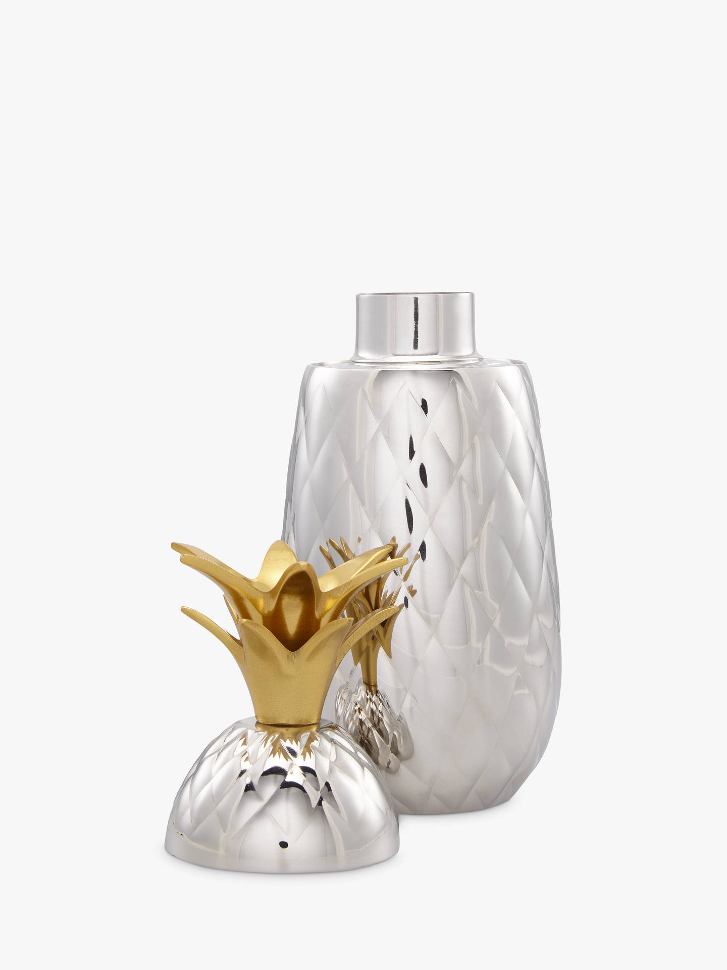 Buy John Lewis & Partners Pineapple Cocktail Shaker, Silver, 600ml Online at johnlewis.com