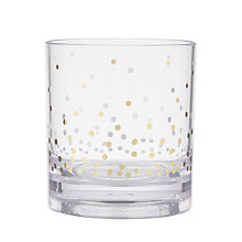 Buy John Lewis Gold Spot Print Acrylic Tumbler, Clear Online at johnlewis.com