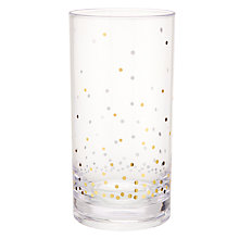 Buy John Lewis Gold Spot Acrylic Highball, Clear Online at johnlewis.com