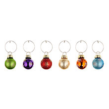 Buy John Lewis Christmas Bauble Wine Charms, Assorted, Pack of 6 Online at johnlewis.com