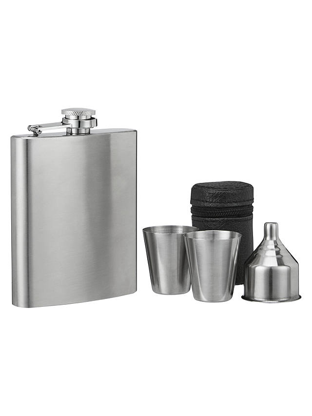 Buy John Lewis Hip Flask and Shot Set Online at johnlewis.com