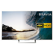 "Buy Sony Bravia KD55XE8577 LED HDR 4K Ultra HD Smart Android TV, 55"" with Freeview HD & Youview, Silver Online at johnlewis.com"