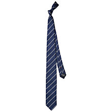 Buy HUGO by Hugo Boss Fine Line Silk Linen Tie, Navy Online at johnlewis.com