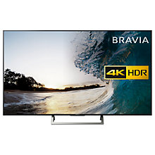 "Buy Sony Bravia KD75XE8596 LED HDR 4K Ultra HD Smart Android TV, 75"" with Freeview HD & Youview, Black Online at johnlewis.com"