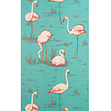 Buy Cole & Son Flamingos Walllpaper, Jade  / Plaster Pink / Burnt Orange JL1/958049 Online at johnlewis.com