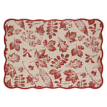 Buy John Lewis Berries Cotton Placemat, Red Online at johnlewis.com