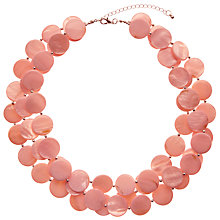 Buy John Lewis Beaded Disc Layered Necklace Online at johnlewis.com