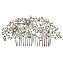 Buy John Lewis Large Faux Pearl and Cubic Zirconia Hair Comb, Silver Online at johnlewis.com