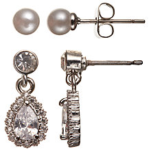 Buy Stone Drop and Faux Pearl Stud Earrings, Set of 2 Online at johnlewis.com