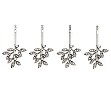 Buy John Lewis Cubic Zirconia Leaf Hair Grips, Pack of 4, Silver Online at johnlewis.com