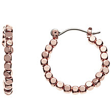 Buy John Lewis Bead Detail Hoop Earrings, Rose Gold Online at johnlewis.com