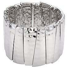 Buy John Lewis Hammered Stretch Bracelet, Silver Online at johnlewis.com