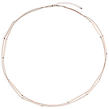 Buy John Lewis Long Tube Layered Necklace, Rose Gold Online at johnlewis.com