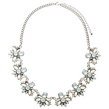 Buy John Lewis Floral Crystal Statement Necklace, Clear/Multi Online at johnlewis.com