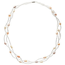 Buy John Lewis Faux Pearl Layered Necklace, Silver/Multi Online at johnlewis.com