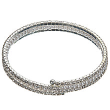 Buy John Lewis Faux Pearl and Cubic Zirconia Stretch Bracelet, Silver Online at johnlewis.com