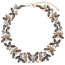 Buy John Lewis Glass Crystal Statement Necklace, Pink/Smokey Grey Online at johnlewis.com