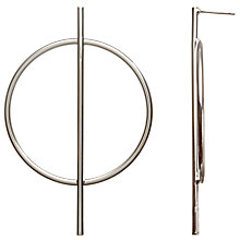 Buy John Lewis Large Circle and Stem Earrings, Silver Online at johnlewis.com