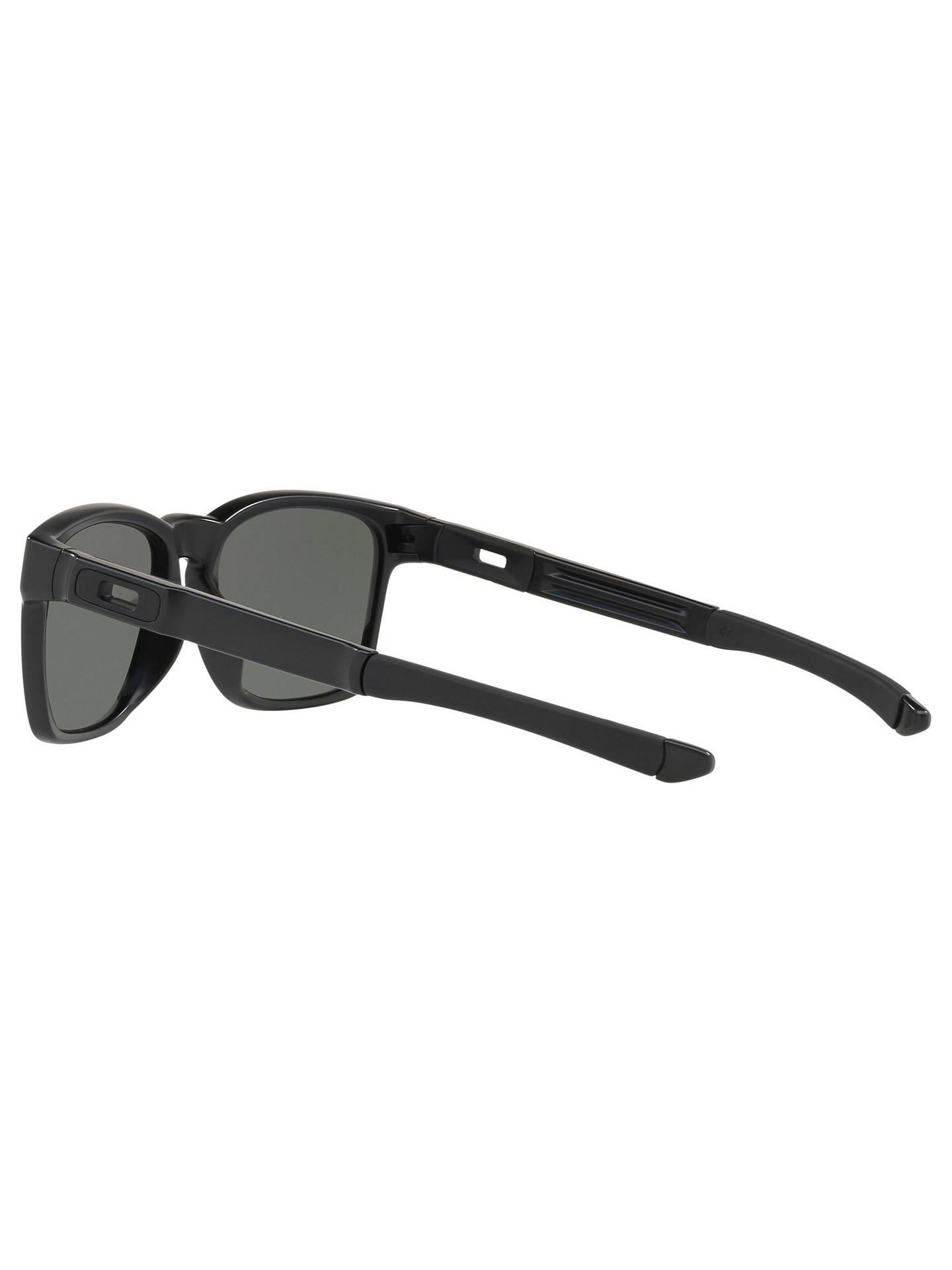 ... BuyOakley OO9272 Catalyst Prizm Polarised Rectangular Sunglasses, Matte  Black Mirror Grey Online at johnlewis ... 3ca6f2aac543
