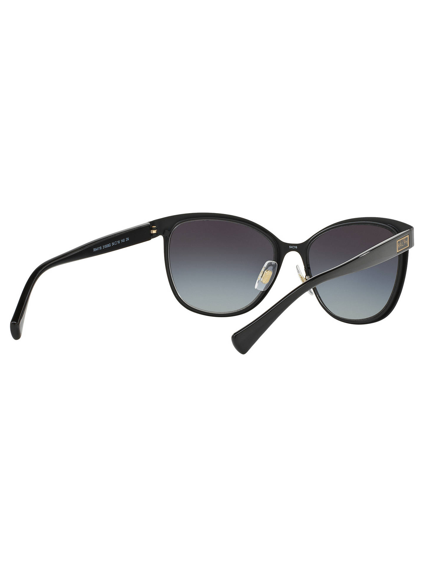 Buy Ralph RA4118 Cat's Eye Sunglasses, Black/Grey Gradient Online at johnlewis.com