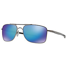 Buy Oakley OO4124 Gauge Prizm Polarised Rectangular Sunglasses Online at johnlewis.com