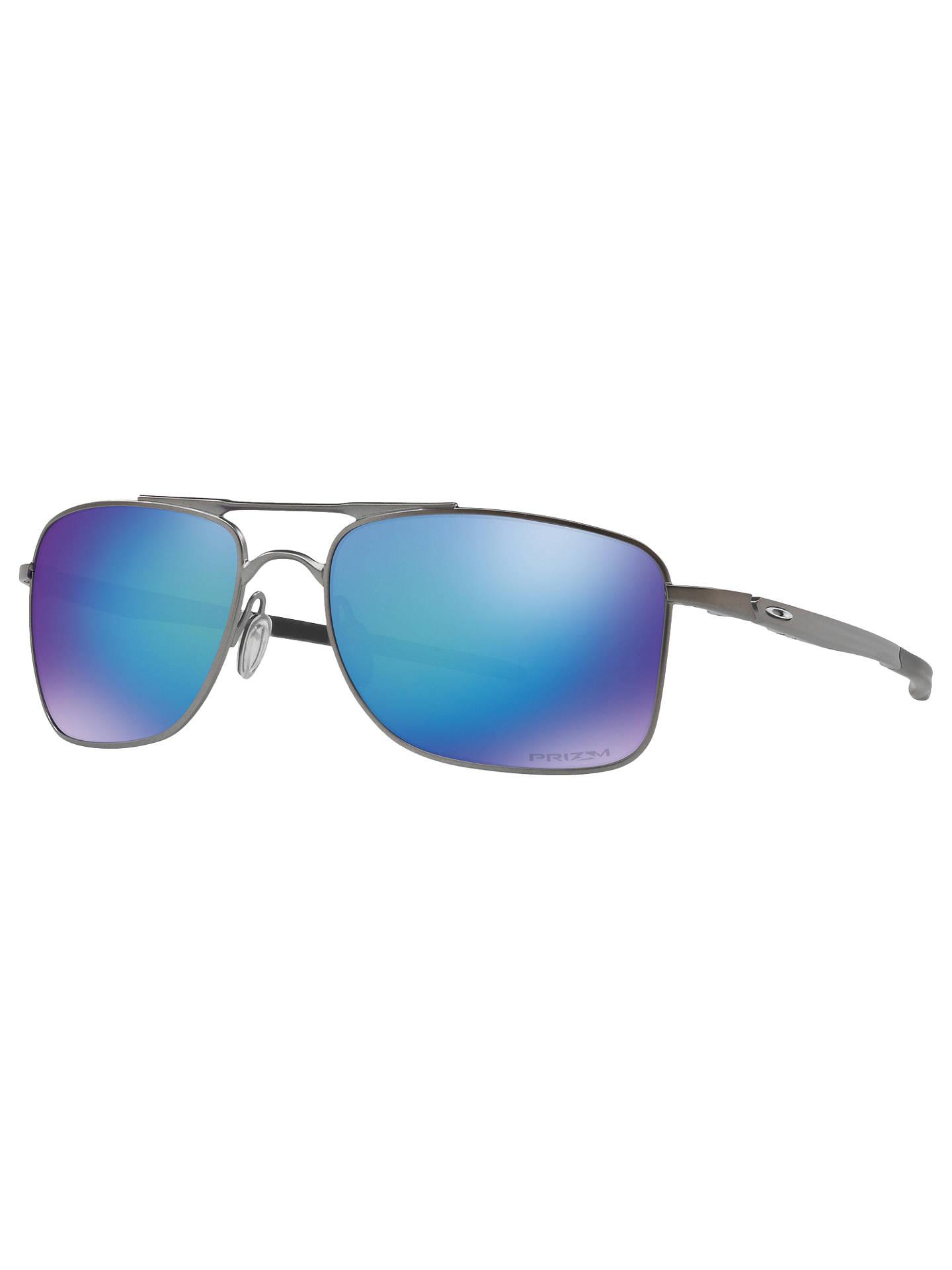 3591601eb6d55 Oakley OO4124 Gauge Prizm Polarised Rectangular Sunglasses at John ...