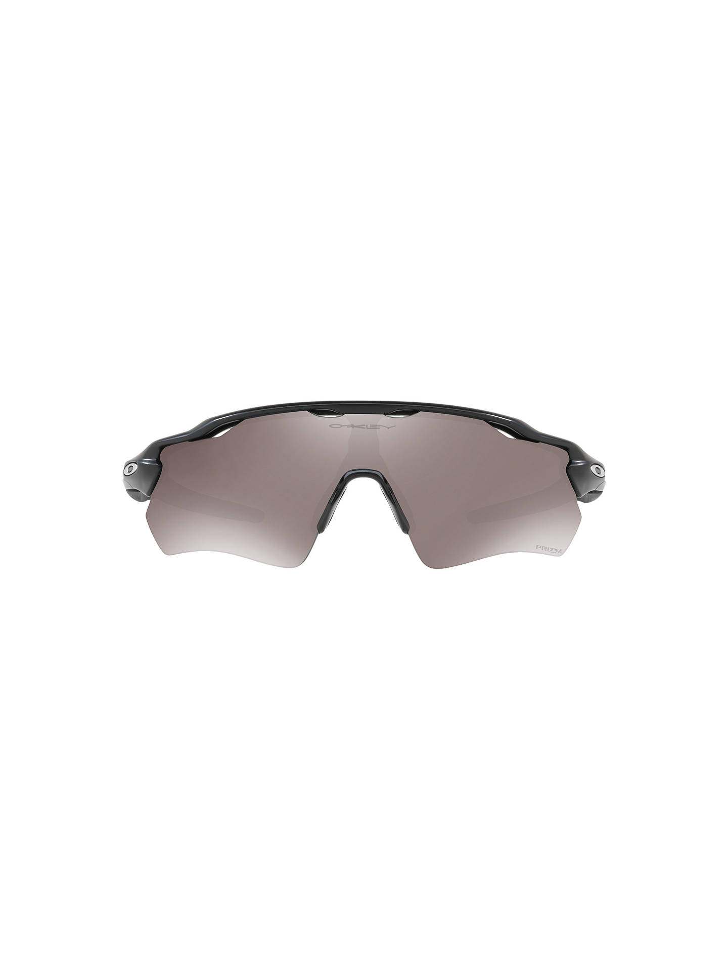 e4432cbaa ... Buy Oakley OO9208 Men's Radar EV Path Prizm Polarised Wrap Sunglasses,  Matte Black/Mirror ...
