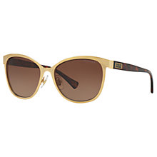 Buy Ralph Lauren RA4118 Cat's Eye Sunglasses, Gold/Brown Online at johnlewis.com