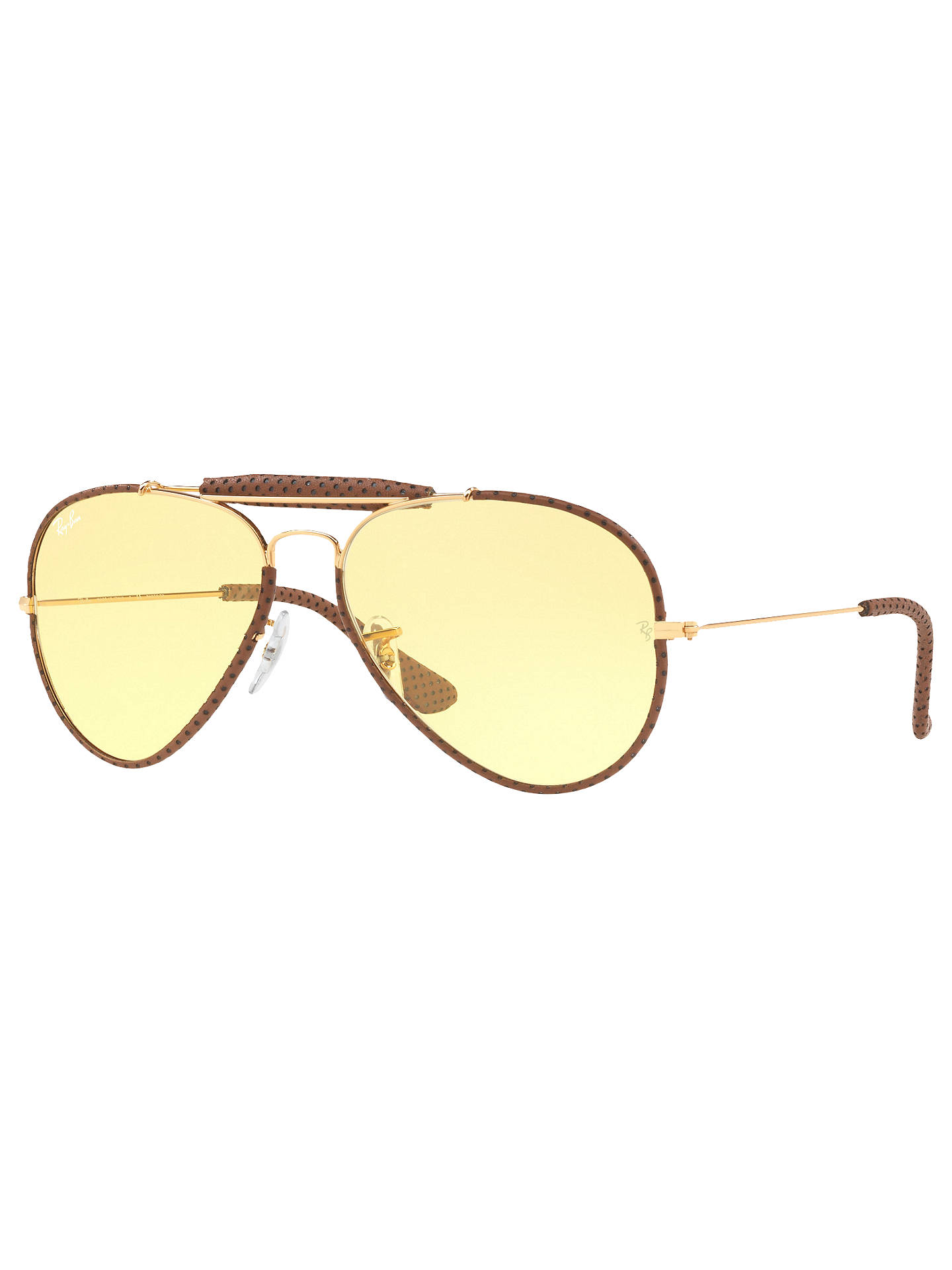 076e7d99c Buy Ray-Ban RB3422Q Outdoorsman Craft Aviator Sunglasses, Gold/Yellow  Online at johnlewis ...