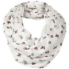 Buy Fat Face Scattered Butterfly Print Snood, Cream/Multi Online at johnlewis.com