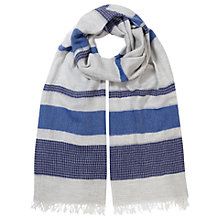 Buy East Cotton Stripe Scarf, Rivera Online at johnlewis.com