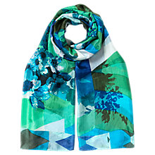 Buy East Geometric Floral Silk Scarf, Multi Online at johnlewis.com