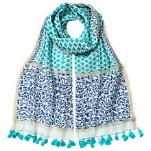 Buy East Diamond Spot Tassle Scarf, Mint Online at johnlewis.com