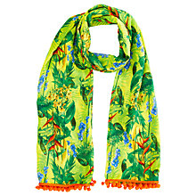 Buy Oasis Hot Penang Tropical Print Scarf, Mid Yellow Online at johnlewis.com
