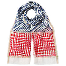 Buy East	Flower Spot Tassel Scarf, Red Online at johnlewis.com