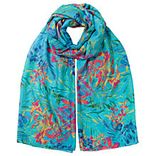 Buy East Aloha Print Scarf, Turquoise Online at johnlewis.com
