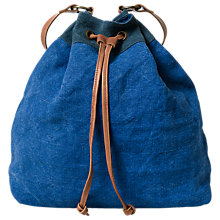 Buy East Jute Drawstring Shoulder Bag, Blue Online at johnlewis.com