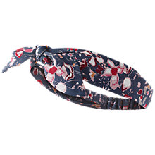 Buy Fat Face Floral Bow Headband, Navy/Multi Online at johnlewis.com