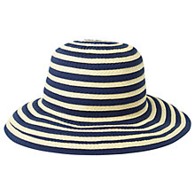 Buy Fat Face Stripe Bucket Hat, Natural/Navy Online at johnlewis.com