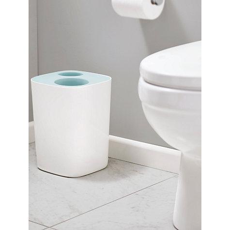 Buy split joseph joseph bathroom recycling bin blue 8l for Blue bathroom bin