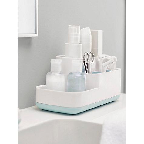 Buy easystore joseph joseph bathroom storage caddy blue for Bathroom storage ideas john lewis
